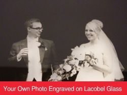 Your Own Photo Engraved on Lacobel Glass